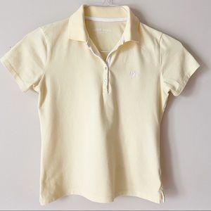 2/$20 🌺 Bossini Girls Yellow Golf Polo Shirt